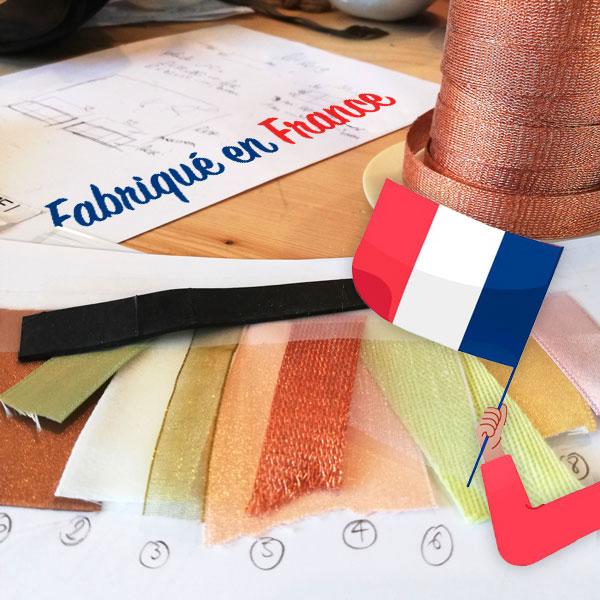 surcyclum, échantillon ruban, choix matières, fabrication française